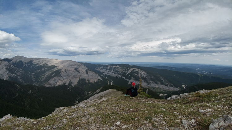 An image of the view from the summit of Prairie Mountain in Kananskis, Alberta