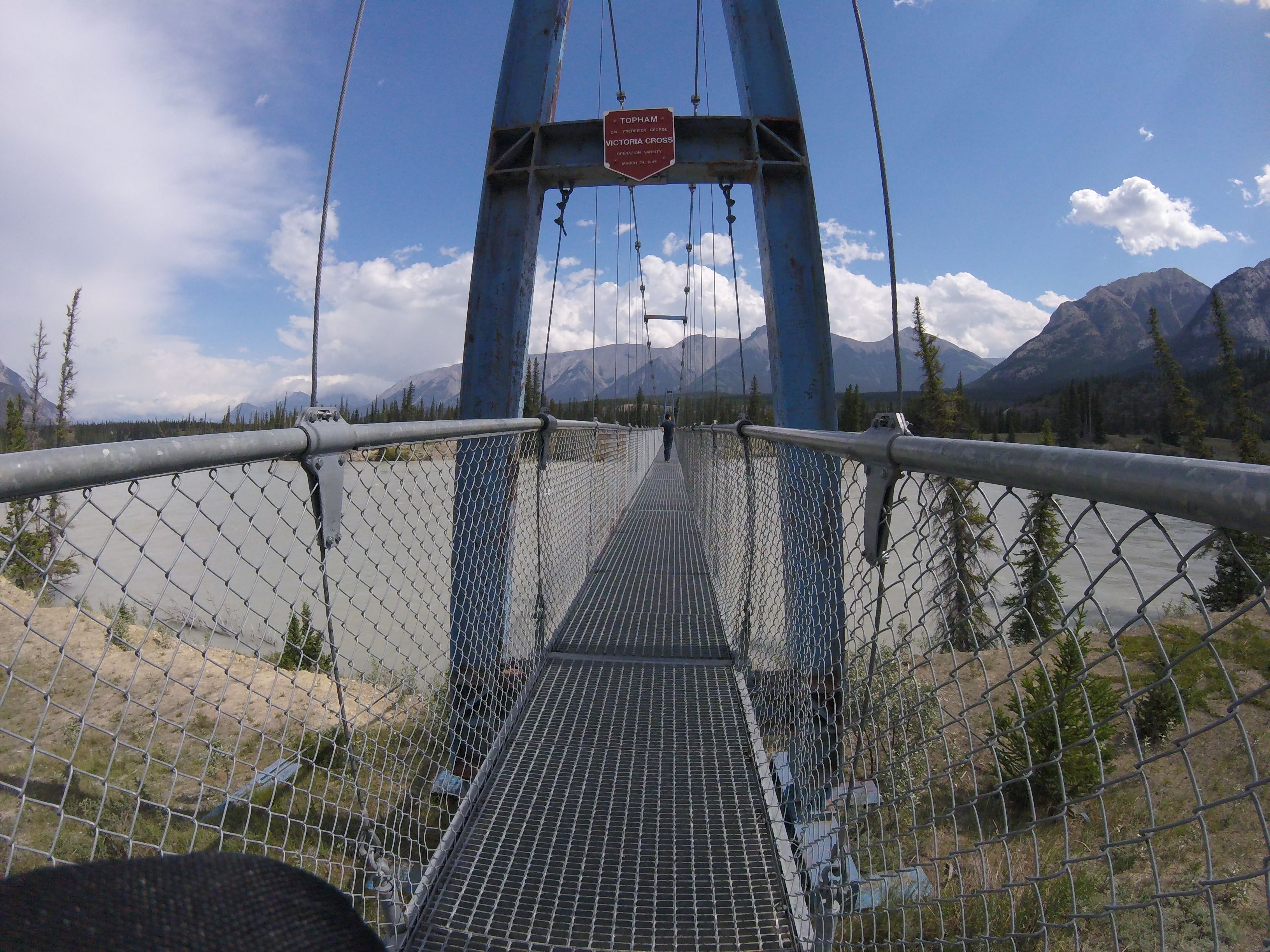 Image of Suspension Bridge over North Saskatchewan River