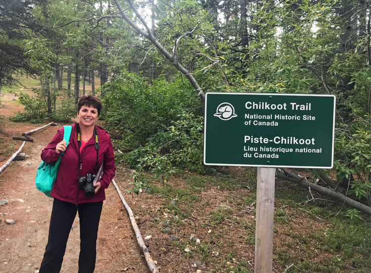 an image of a person standing on the Chilkoot Trail