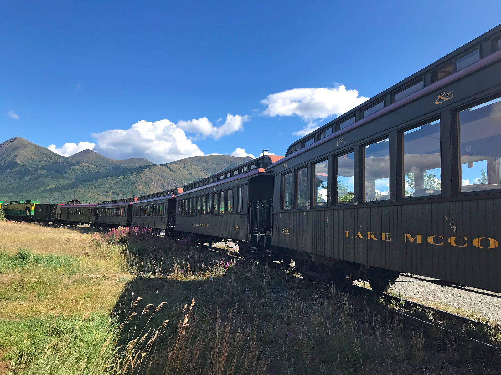An image of the White Pass and Yukon Route train