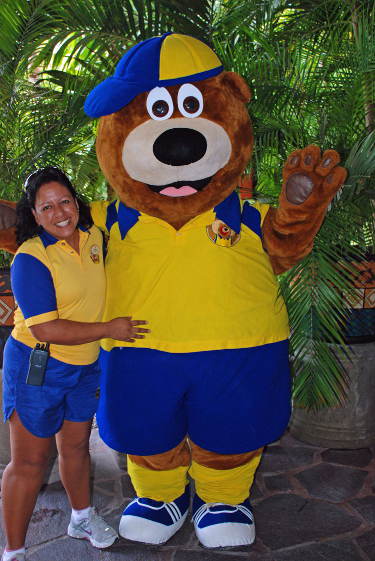 An image of the kids' club mascot at Occidental Cozumel located in Cozumel, Mexico - all inclusive family resorts