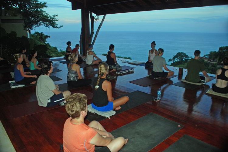 An image of a group of people in a yoga class at Anamaya Resort in Costa Rica - Yoga Retreat Costa Rica