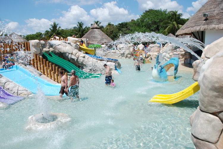 An image of the water park at Sandos Caracol Eco Resort in Riviera Maya, Mexico - all inclusive family vacations