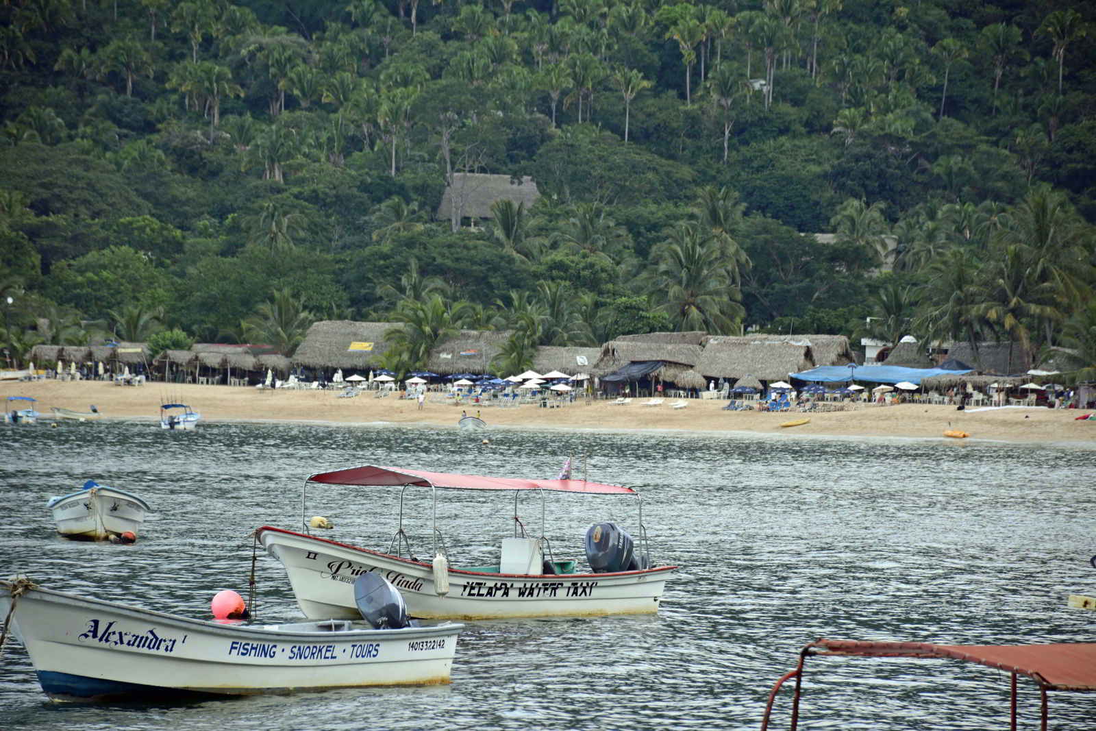 An image of Yelapa Beach in Jalisco, Mexico.