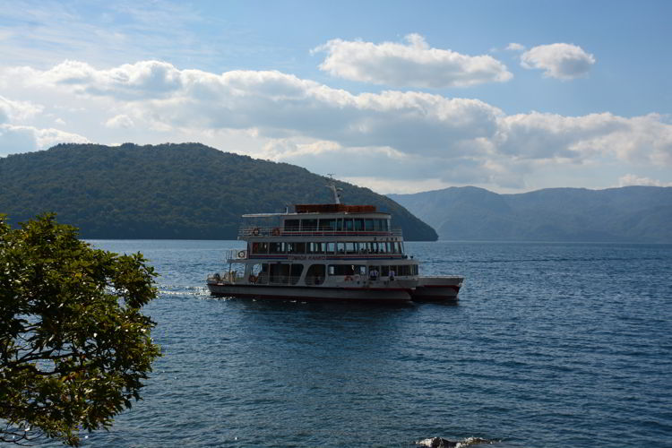 An image of the sightseeing boat on Lake Towada near Aomori, Japan - Lake Towada and Oirase Gorge
