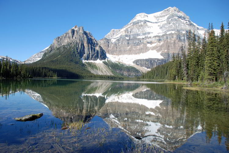 An image of Shadow Lake and Mount Ball in Banff National Park- Shadow Lake Lodge