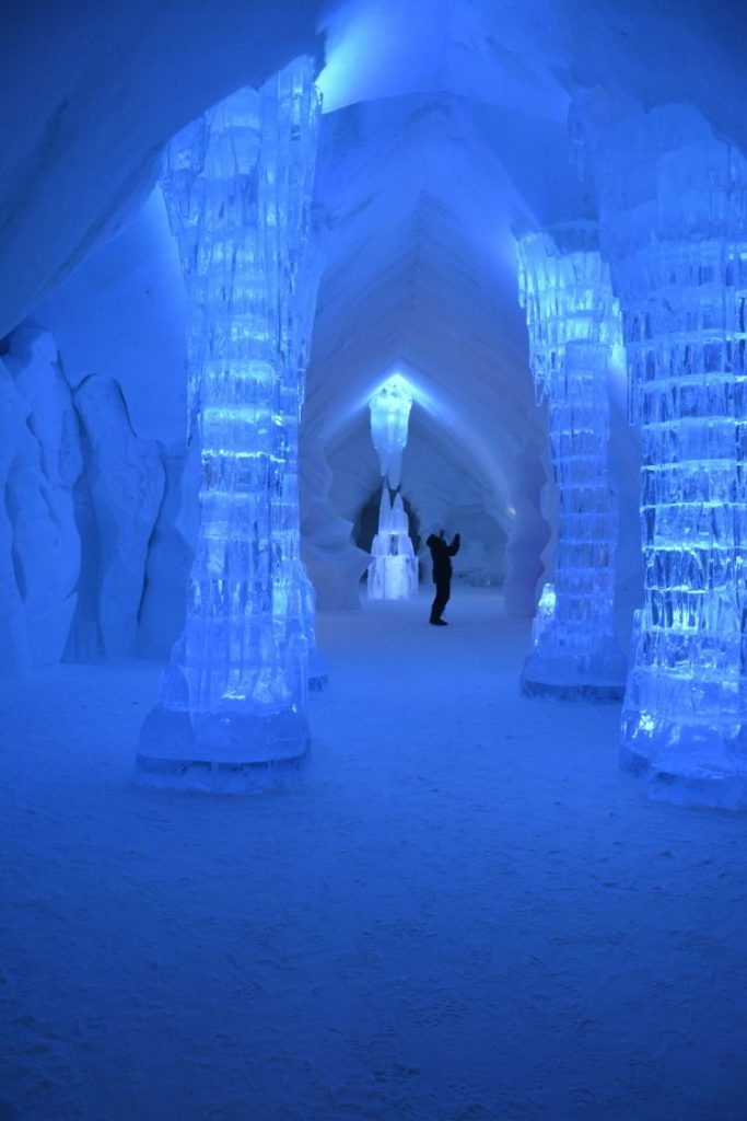 An image of the ice hotel in Quebec, Canada - Quirky accommodation