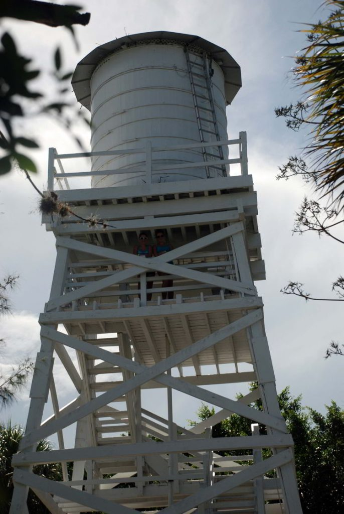 An image of the Cabbage Key water tower in Cabbage Key, Florida - cheeseburger in paradise