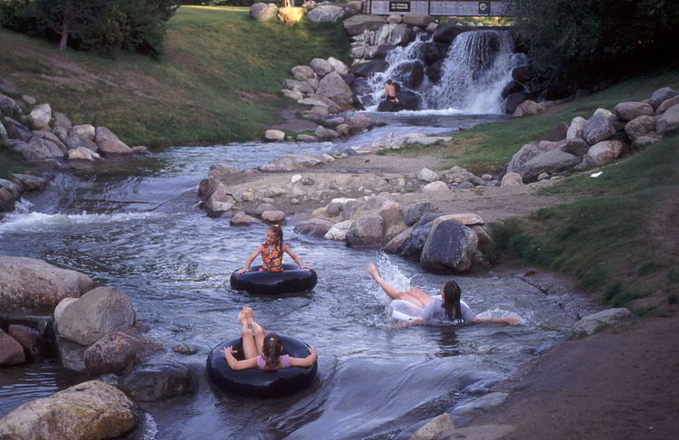 An image of Discovery Canyon water park in Red Deer, Alberta, Canada.