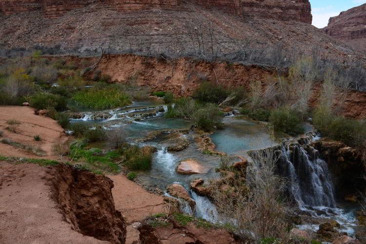 An image of Navajo Falls - Havasupai hike