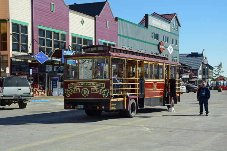 An image of a trolley car in Ketchikan, Alaska - Things to do in Ketchikan