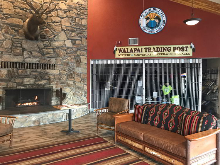 An image of the interior of the Hualapai Lodge in Peach Springs, Arizona - Havasupai hike