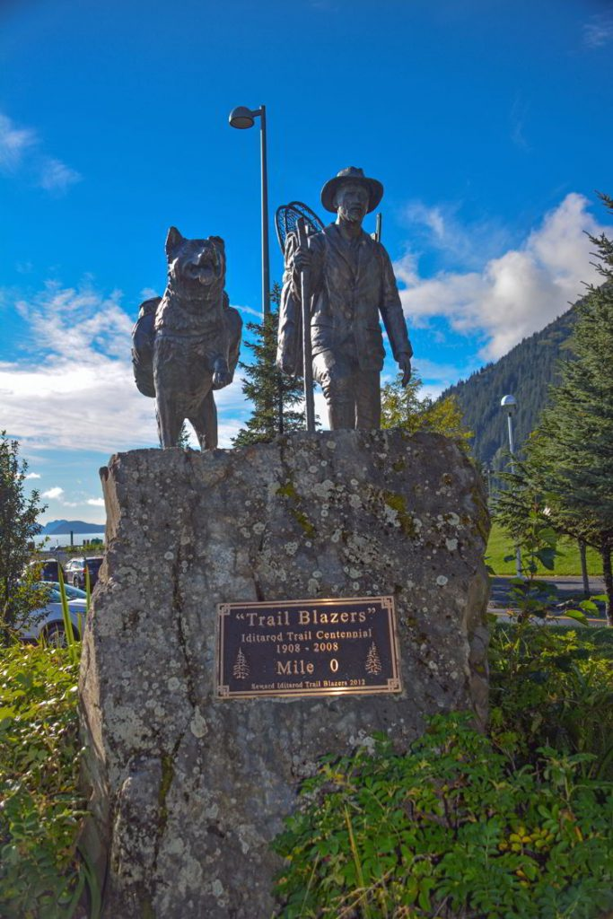 An image of the Trail Blazers Monument in Seward, Alaska USA