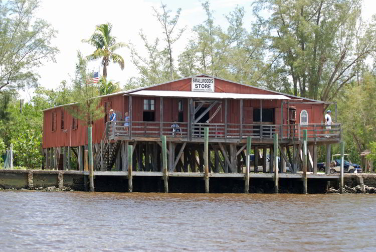 An image of the Smallwoods store in Chokoloskee Island, Florida.