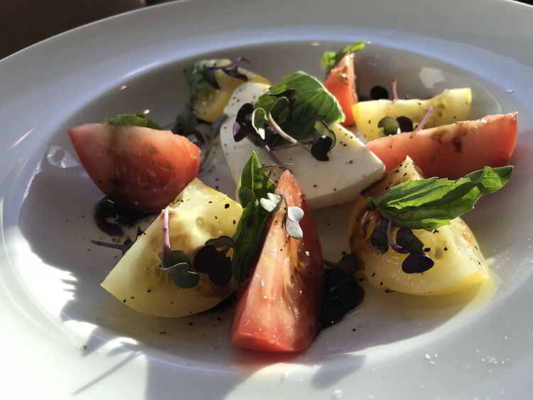 An image of the caprese salad at Red Rock Trattoria in Waterton Lakes National Park - things to do in Waterton.