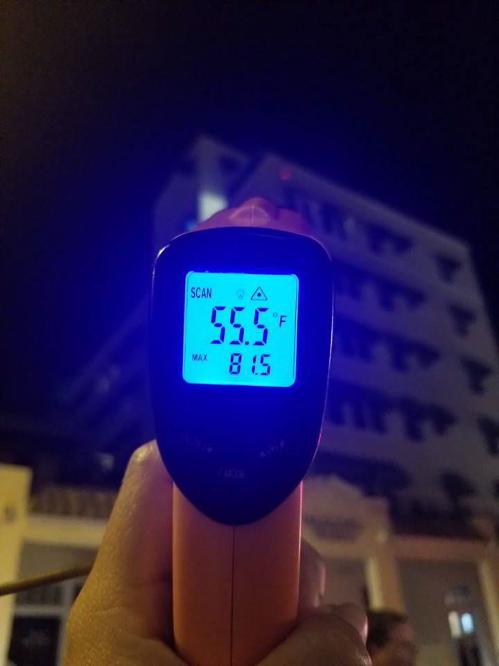 An image of a temperature gauge - Key West Ghost Tours.