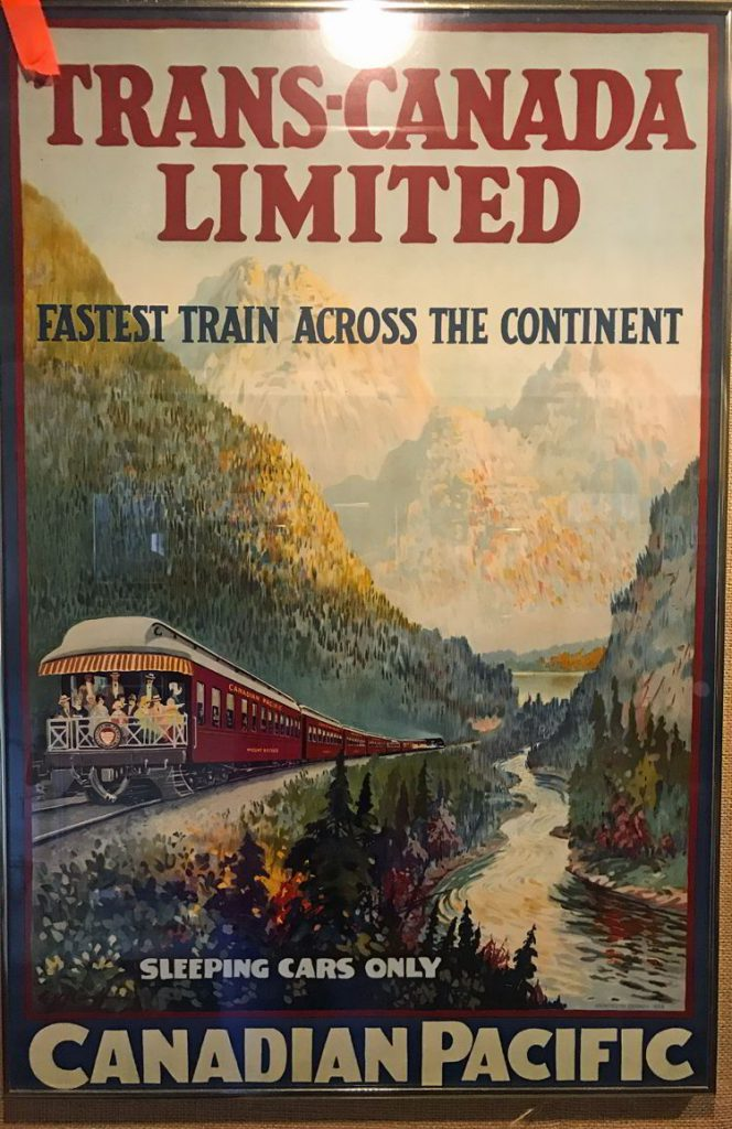 An image of an old Canadian Pacific Rail poster at the Cranbrook History Museum.