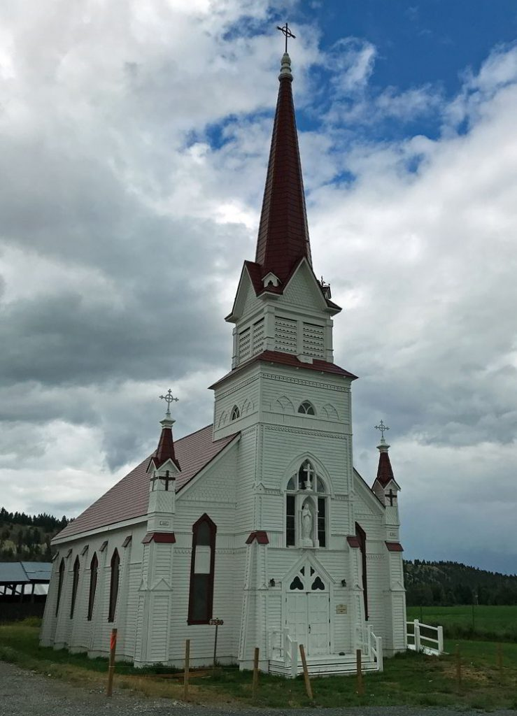 An image of the St. Eugene Church on the St. Mary's Indian Band Reserve near Cranbrook, BC.