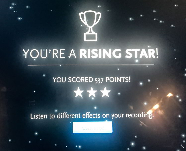 "An image of a computer screen that says ""you're a rising star"" at Studio Bell in Calgary, Alberta, Canada."