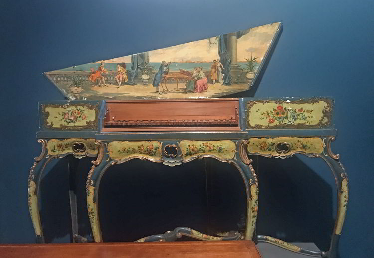 An image of the oldest item in the National Music Centre collection, a 1560 Italian Virginal.