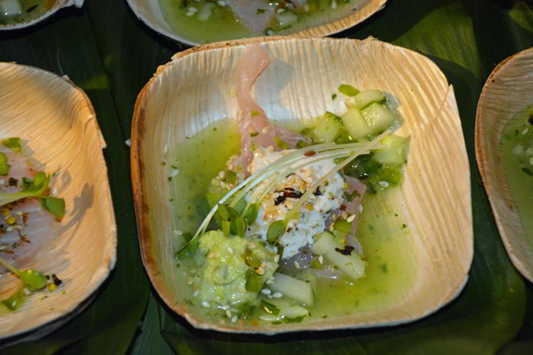 An image of a fresh fish bowl served at the hawaii Food and Wine Festival in Maui.