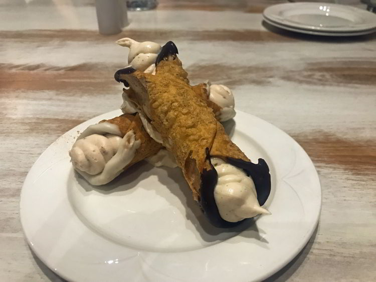 An image of the cannoli at Italian Table in Lethbridge, Alberta.
