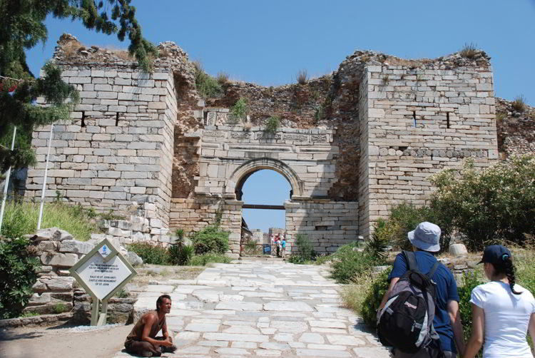 An image of the ruins of the Basilica of St. John in Ephesus, Turkey as seen on a private tour.