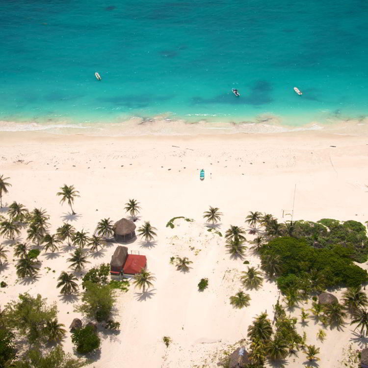 An image of a beach in Riviera Maya, Mexico