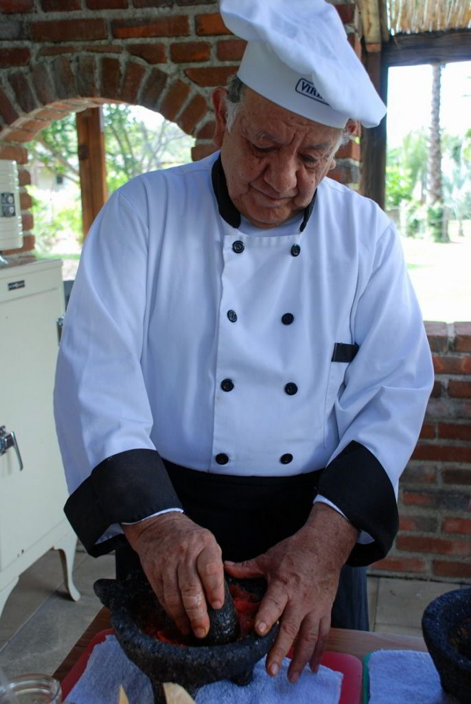 An image of Chef Victor at Flora Farms in Cabo San Lucas, Mexico.