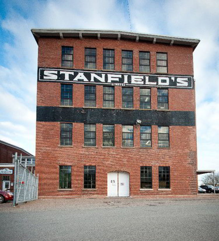 An image of the Stanfield's Limited factory and outlet in Turo, Nova Scotia.