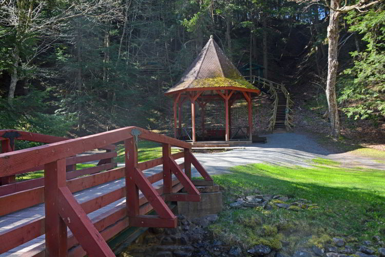An image of the gazebo inside Victoria Park in Truro, Nova Scotia - Things to do in Truro.