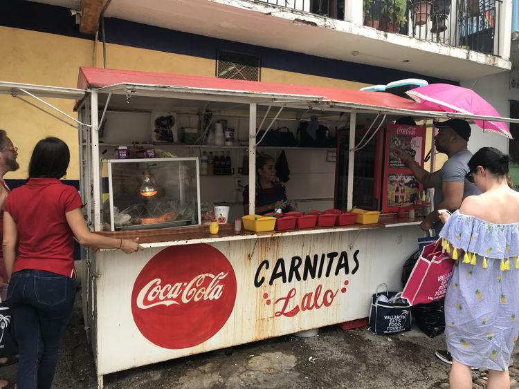 An image of Carnitas Lalo in Puerto Vallarta, Mexico.