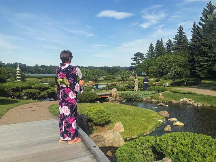 An image of the Nikka Yuko Japanese Gardens in Lethbridge, Alberta.