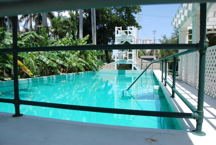 An image of the swimming pool at Thomas Edison's winter home in Fort Myers, Florida.