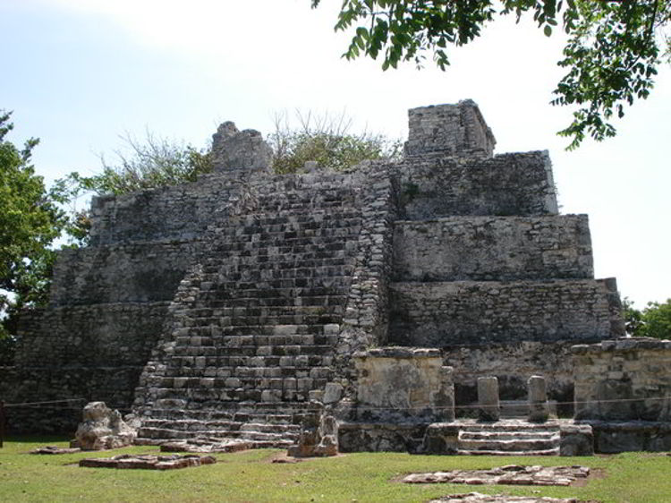 An image of the El Meco ruins near Costa Mujeres. and Cancun, Mexico